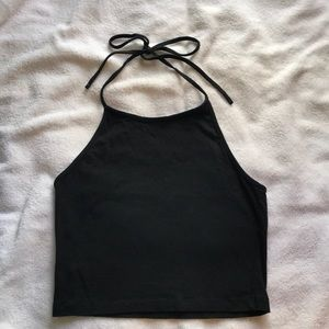 Brandy Melville Black Halter Top